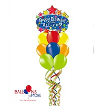 Happy Birthday from All of Us Balloons Bouquet