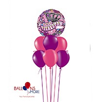 Happy Birthday Girl Tattoo Balloons Bouquet