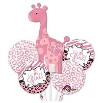 It's a Girl Giraffe Balloons Bouquet