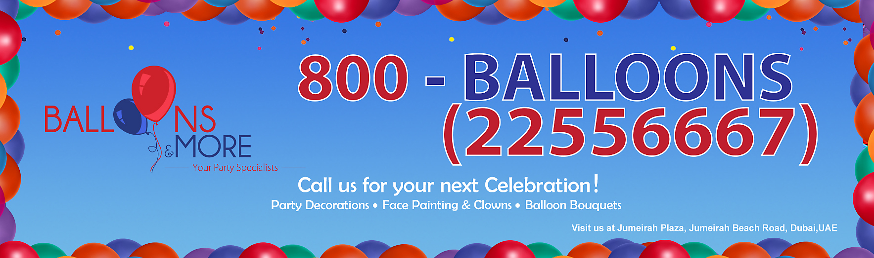 Toll Free 800-BALLOONS